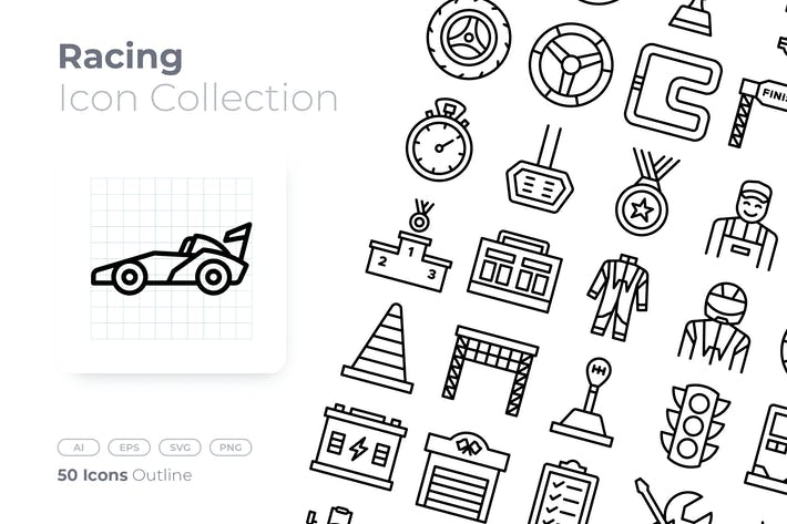 Thumbnail for Racing Outline Icon