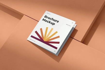 Brochure Mockup Scenes Square Bi-Fold