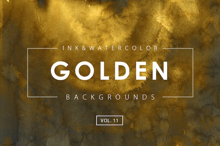 Thumbnail for Golden Ink Backgrounds 11