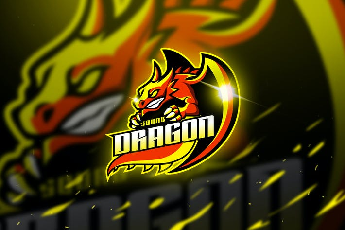 Thumbnail for Dragon - Mascot & Logo Esport