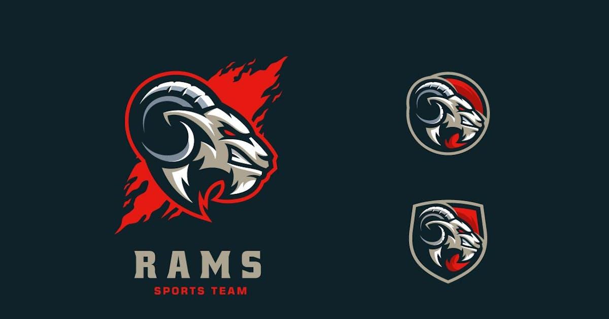Download Rams Head Sports and E-sports Style Logo by ivan_artnivora