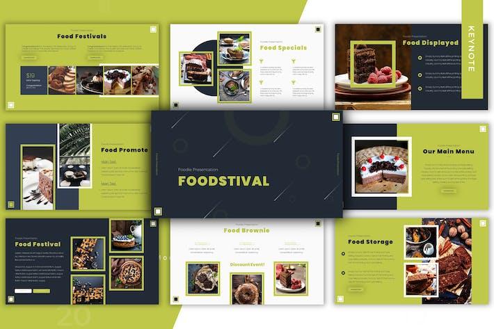 Thumbnail for Foodstival - Plantilla para Keynote