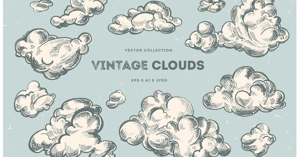 Download Vintage Clouds Collection by hellokisdottir
