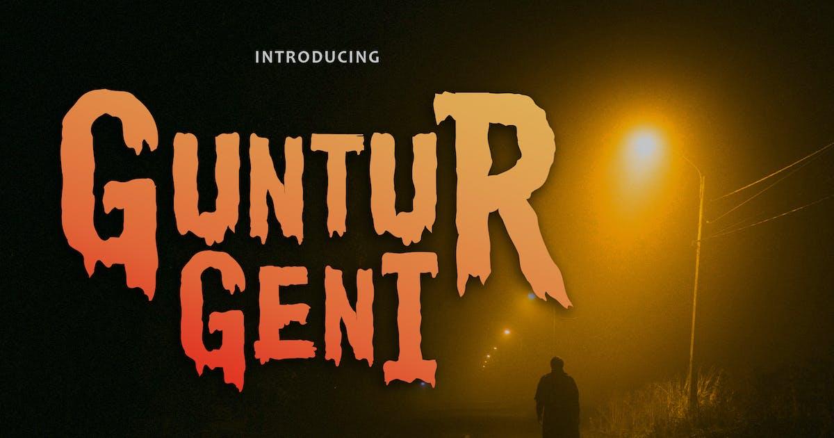 Download Guntur Geni - Handpainted Typeface by Macademia