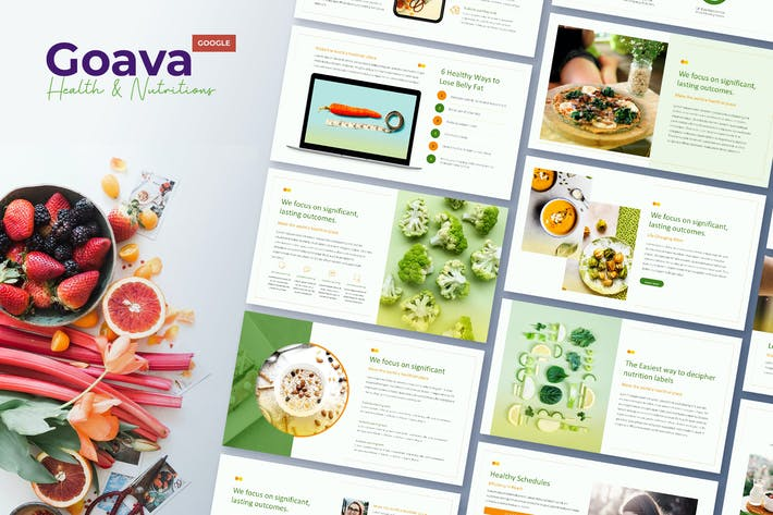 Thumbnail for Goava - Health & Nutritions Google Slides
