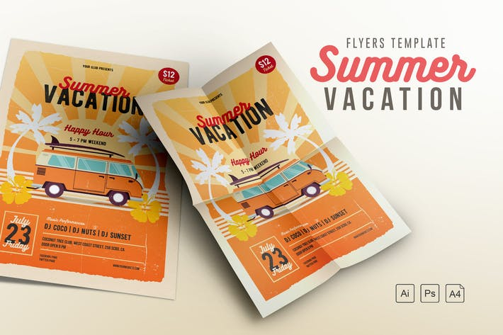 Thumbnail for Summer Vacation Flyer/Poster