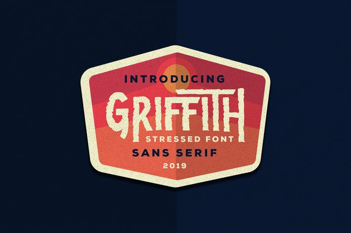 Thumbnail for Griffith - Stressed Font