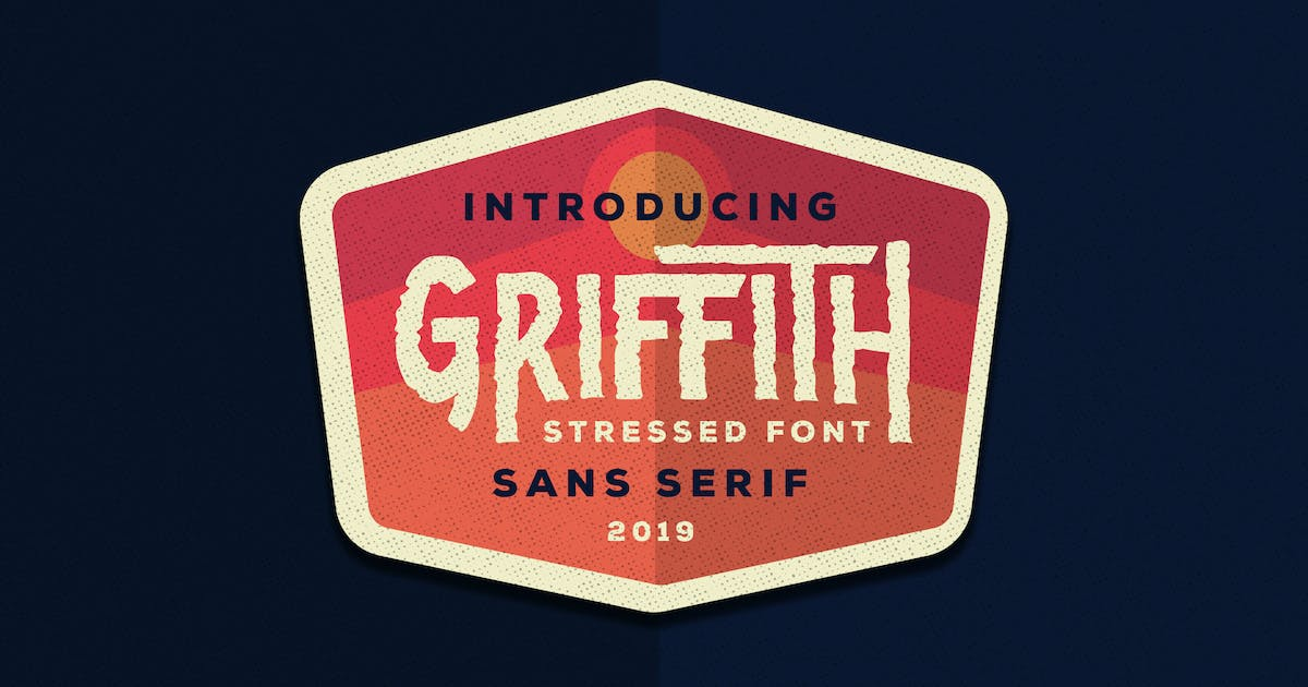 Download Griffith - Stressed Font by Ksenusya