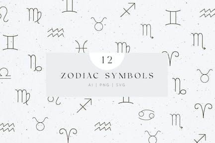 Astrology Zodiac Sign Set