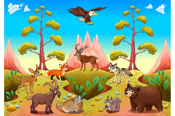 Thumbnail for Mountain Animals in the Nature