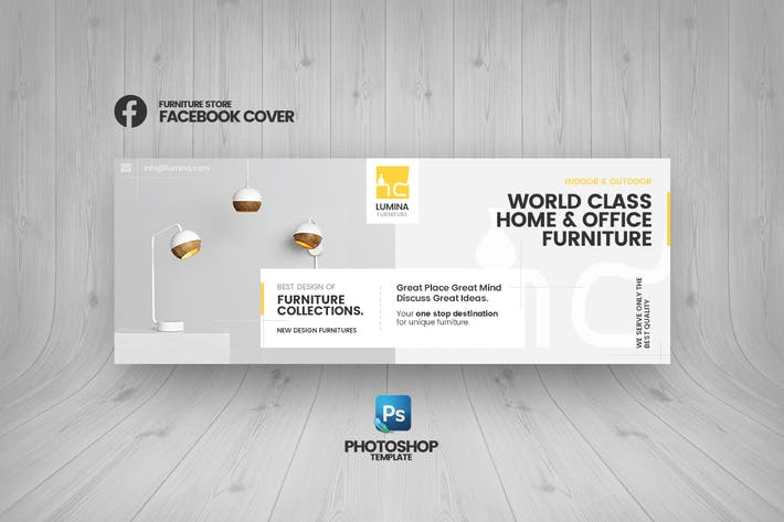Thumbnail for Lumina - Furniture Store Facebook Cover Template