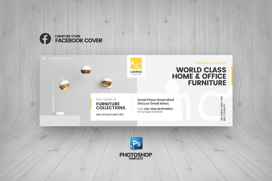 Lumina - Furniture Store Facebook Cover Template