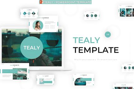 Tealy - Шаблон Powerpoint