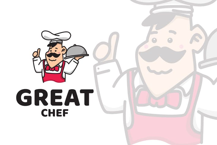 Thumbnail for Great Chef Cute Logo Template