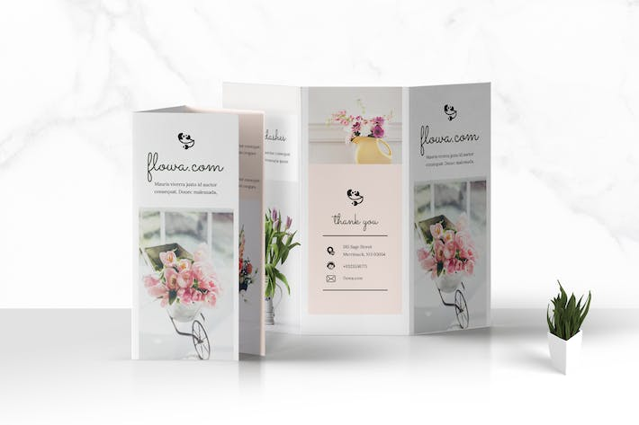 Thumbnail for Trifold Flowers Business Brochure
