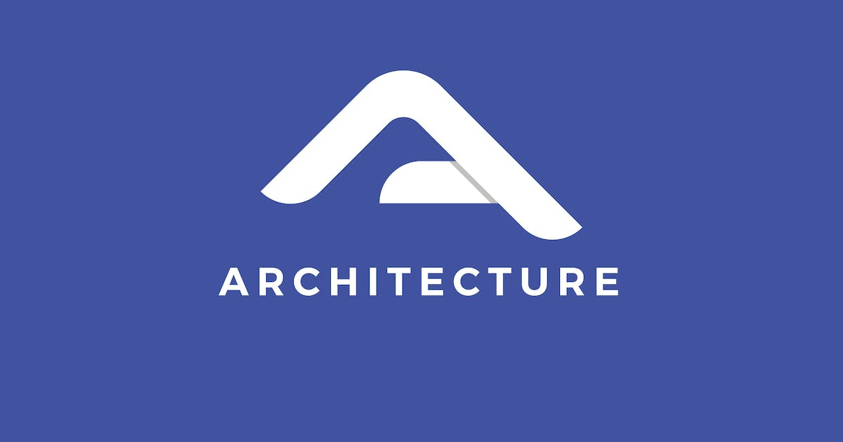 Download Architecture A Letter Logo Template by MuseFrame