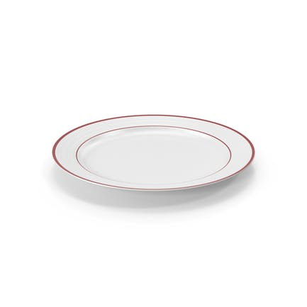 Roulette Dinner Plate Red Band