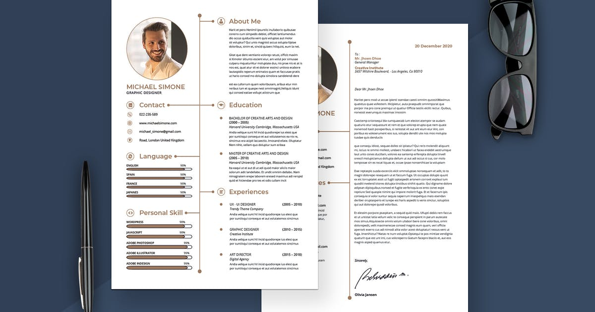 Minimalist Resume & Cover Letter by UnicodeID on Envato Elements