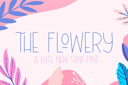 The Flowery Font