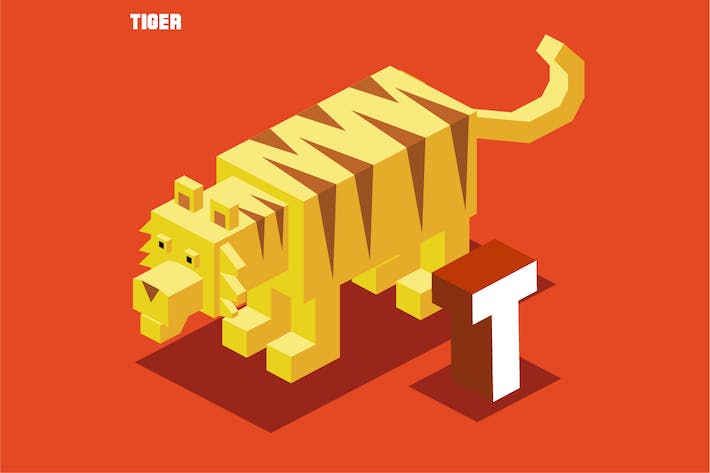 Thumbnail for T for Tiger. Animal Alphabet