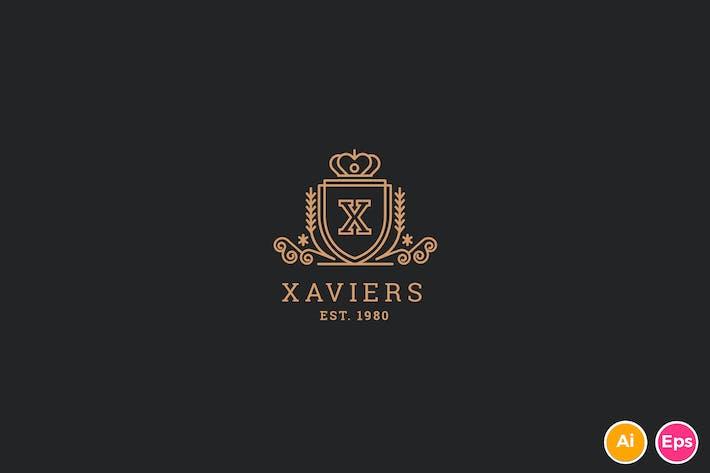 Thumbnail for Xavier - Letter X Heraldic Logo Template
