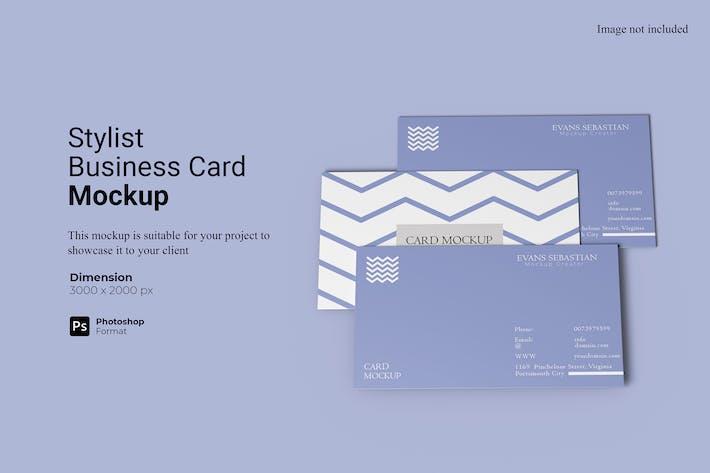 Stylist Business Card Mockup Template