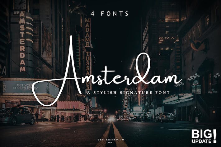 Thumbnail for Amsterdam Font Collection