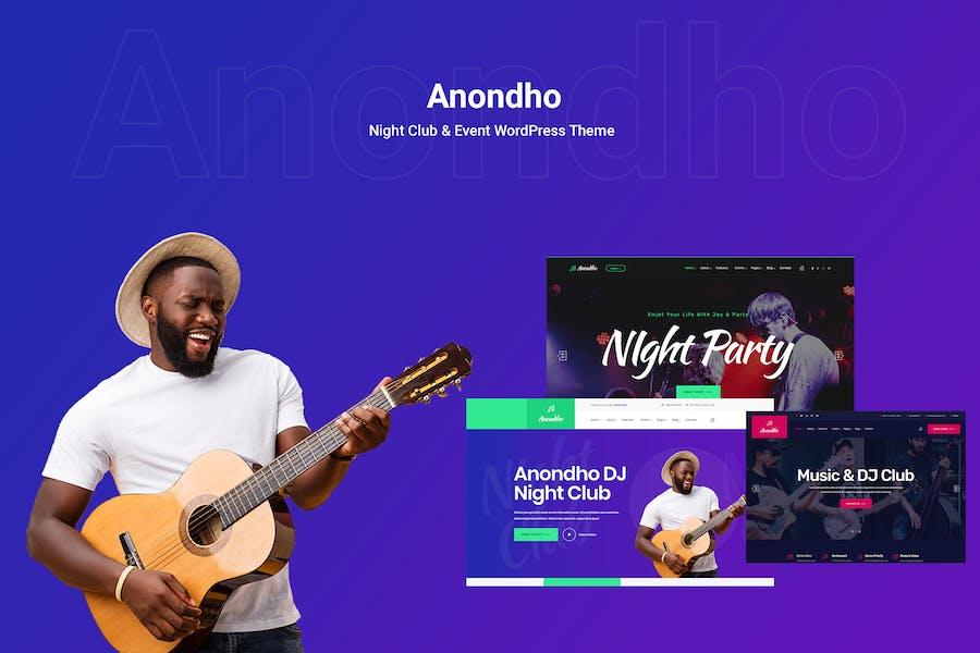 Anondho - Night Club & Event WooCommerce WordPress