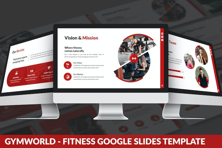 Thumbnail for Gymworld - Fitness Google Slides Template