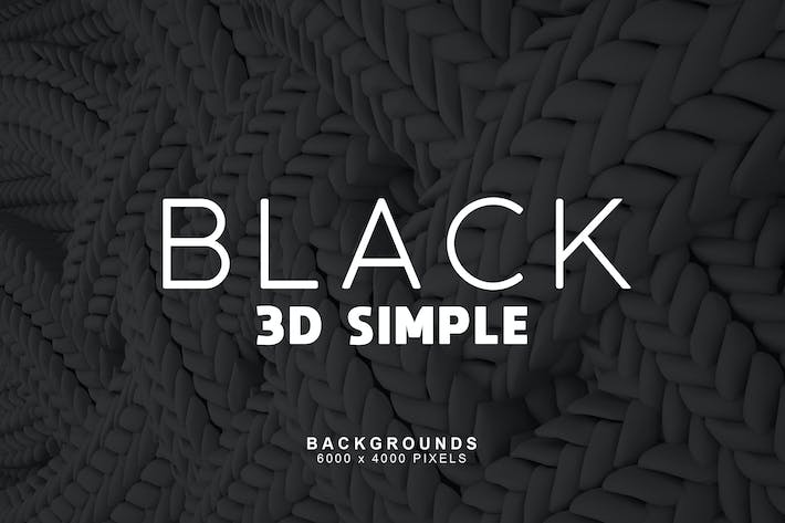Thumbnail for Simple 3D Black Backgrounds 1