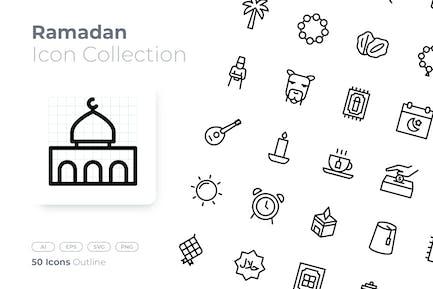 Icône du contour du Ramadan