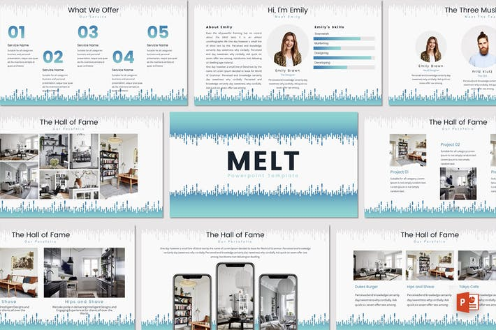 Thumbnail for MELT - Powerpoint Template