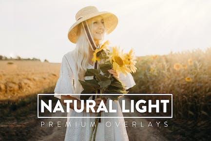 50 Fotoüberlagerungen mit natürlichem Sonnenlicht
