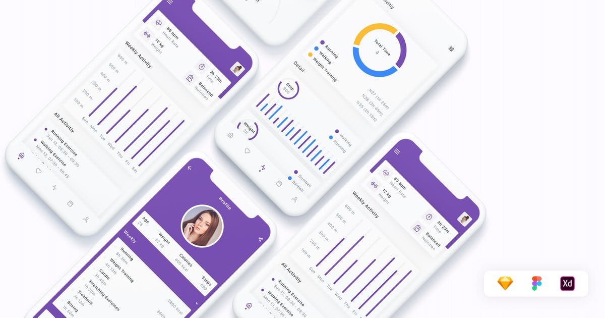Download Fitness & Workout App UI Kit by betush