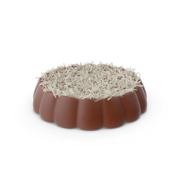 Disk Chocolate With Coconut