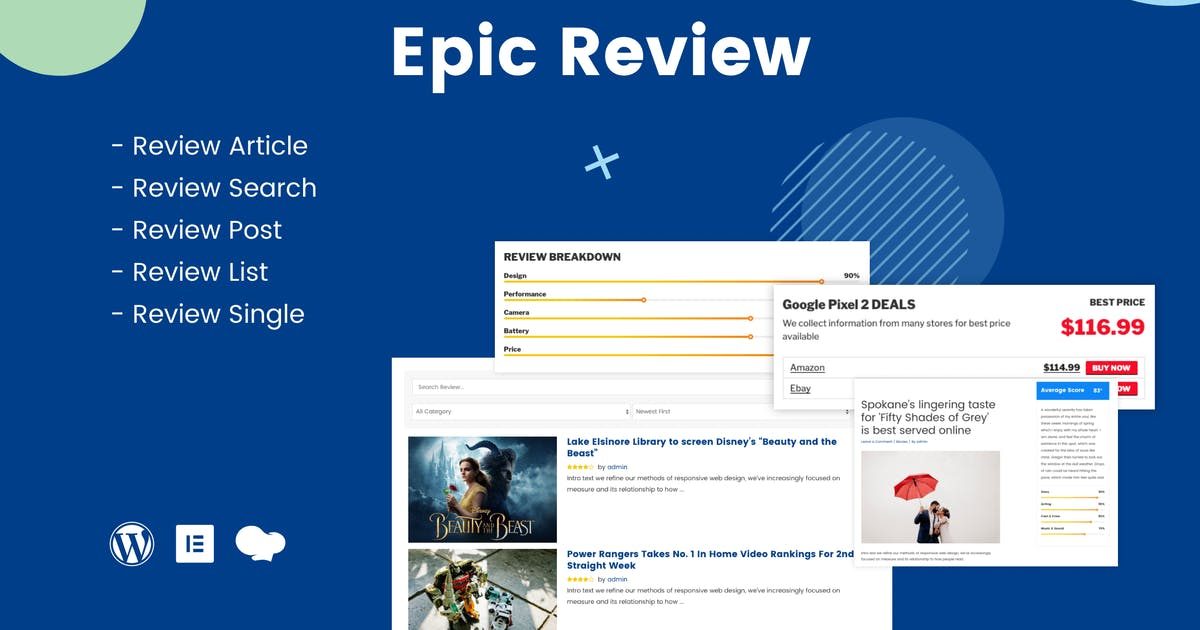 Download Epic Review - WordPress Plugin by jegtheme