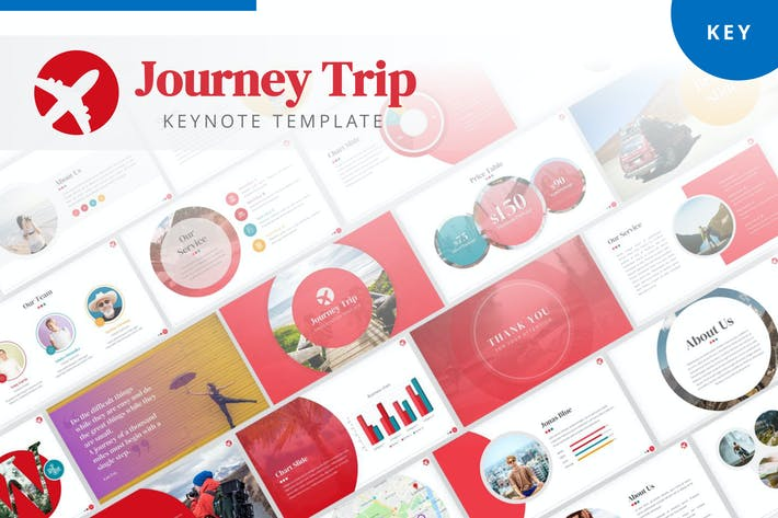 Thumbnail for Journey Trip Keynote Template