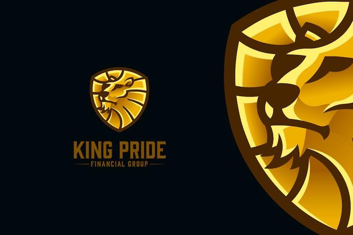 Thumbnail for King Pride - Golden Lion Shield Logo