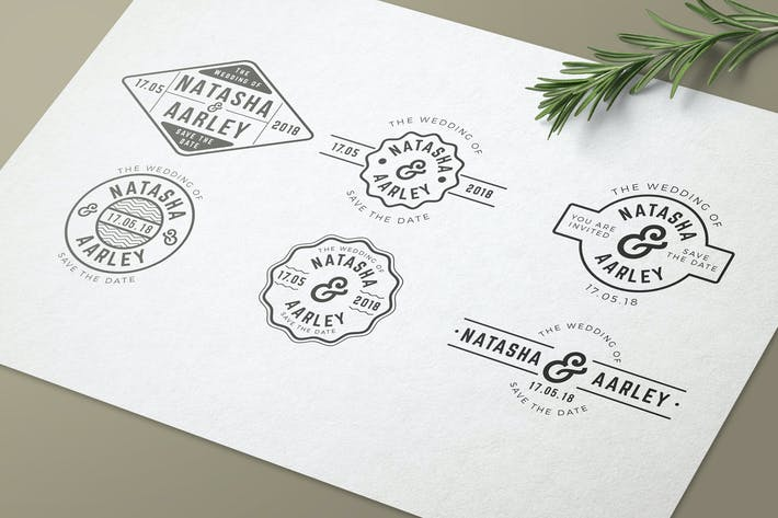 Thumbnail for Multipurpose Wedding Badges 02