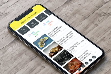 Cryptocurrency News Mobile Ui - H