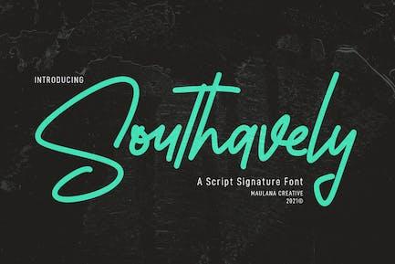 Southavely Script Signature Font