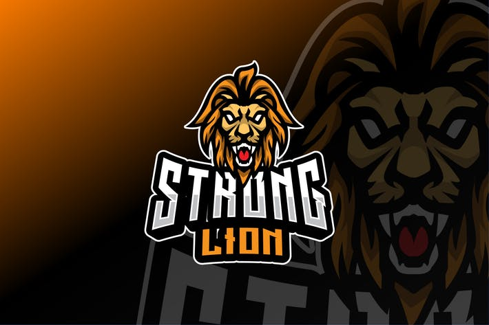 Strong Lion Sport and Esport Logo Template