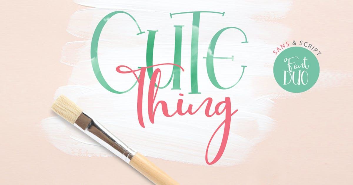 Download Cute Thing Font Duo by khurasan