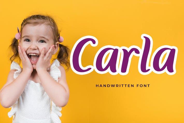 Thumbnail for Carla Playful Handwritten Font