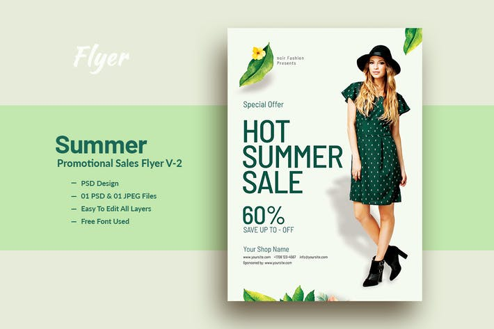 Thumbnail for Summer Promotional sales Flyer & Poster V-2