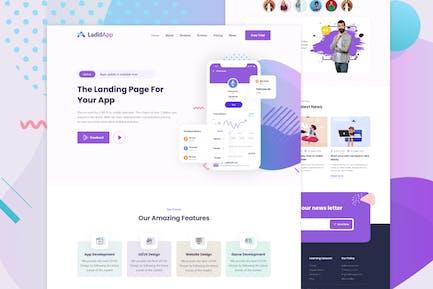 LadidApp - Шаблон целевой страницы отскока приложения