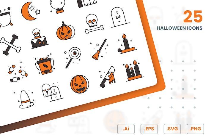 Thumbnail for Halloween Icons Set