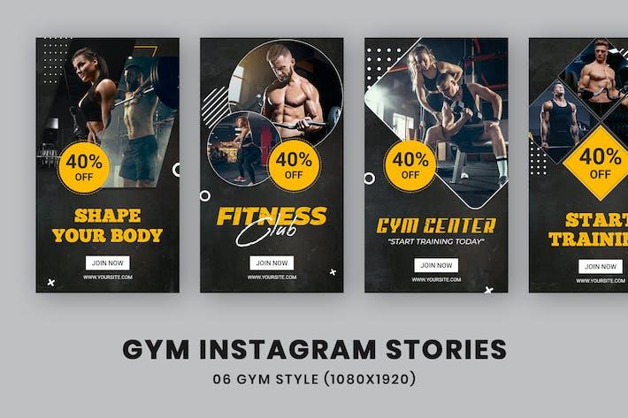 Thumbnail for Фитнес-центр Instagram Истории Шаблон