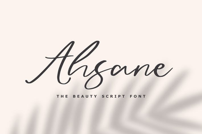 Thumbnail for Ahsane - The Beauty Script Font