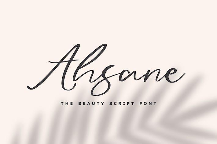 Thumbnail for Ahsane - La police de script de beauté
